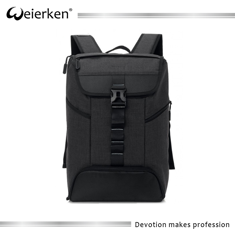 Weierken waterproof anti-theft cut-resistant multiple hidden pocket backpack