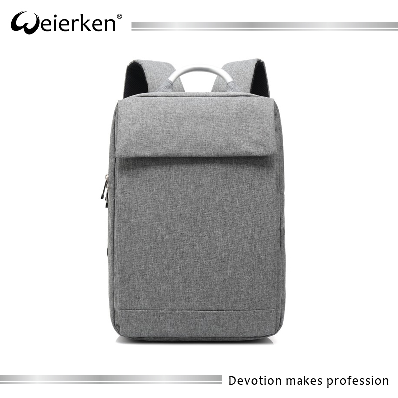 High quality black business computer backpack with hidden compartment