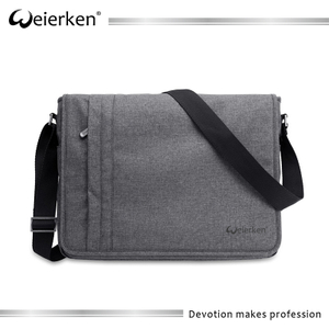 Grey Eco-friendly Business Men Shoulder Messenger Bag