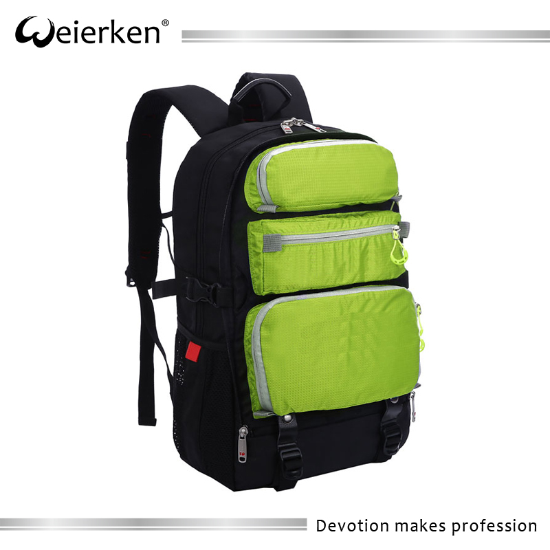 Weierken top quality water proof nylon thin laptop backpack bag for students
