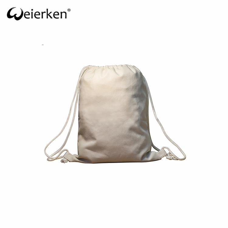 Practical Wear Resistant Canvas Drawstring Bag