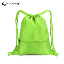 Classic Style Roomy Business Nylon Drawstring Bag