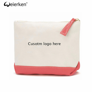Large Capacity Wholesale Plain Canvas Cosmetic Bag