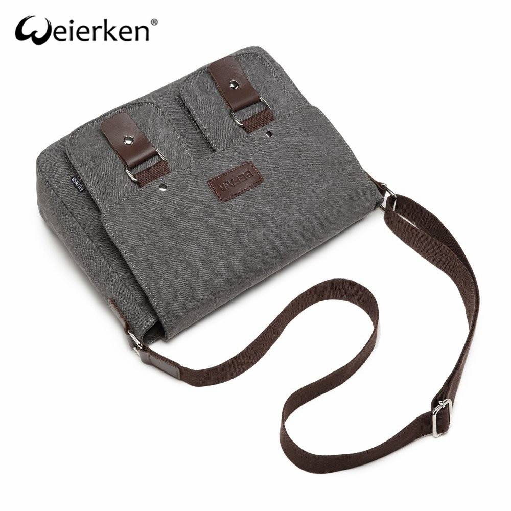 Classic Design Comfortable Easy Carrying Canvas Messenger Bag