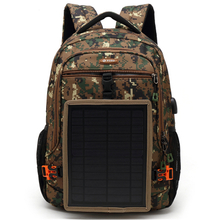 Camouflage solar USB big capacity Backpack in stock