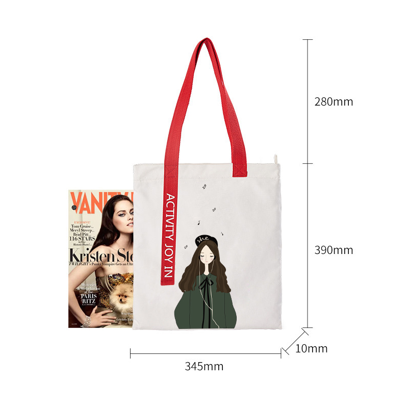 Hot Selling Duffel Bag Cartoon Girls Canvas Shoulder Bag