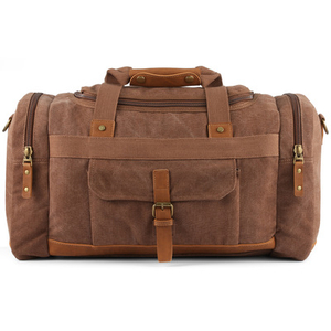Custom Logo Waterproof Mens Overnight Bag Women Sport Duffel Leather Canvas Travel Bag