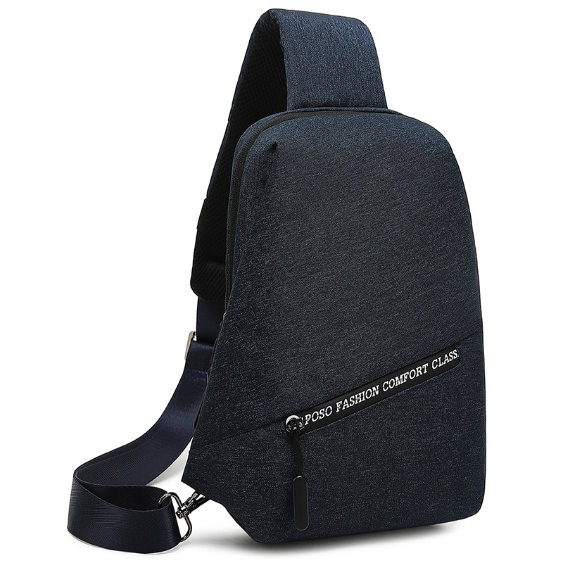 Blue Snowflakes polyester Poso casual sling bag for tablet