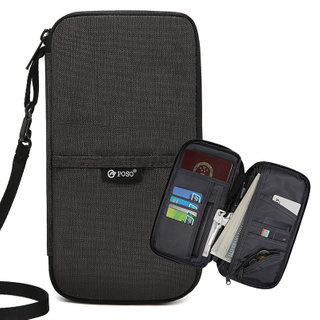 Polyester waterproof passport phone wallet