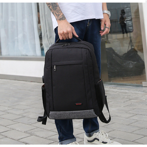 Black big capacity Poso business laptop backpack in stock
